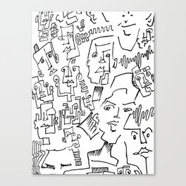 ten faced Canvas Print