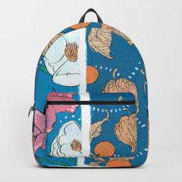 Warm Hues on Cool Background Backpack