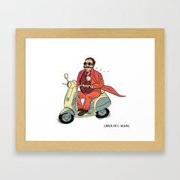 Taft on a Vespa Framed Art Print