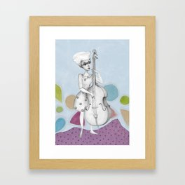 I bass play a song for you Framed Art Print