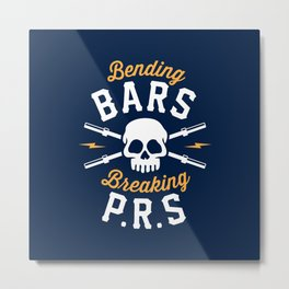 Bending Bars Breaking PRs Metal Print