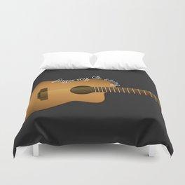 Finger my G string guitar Duvet Cover