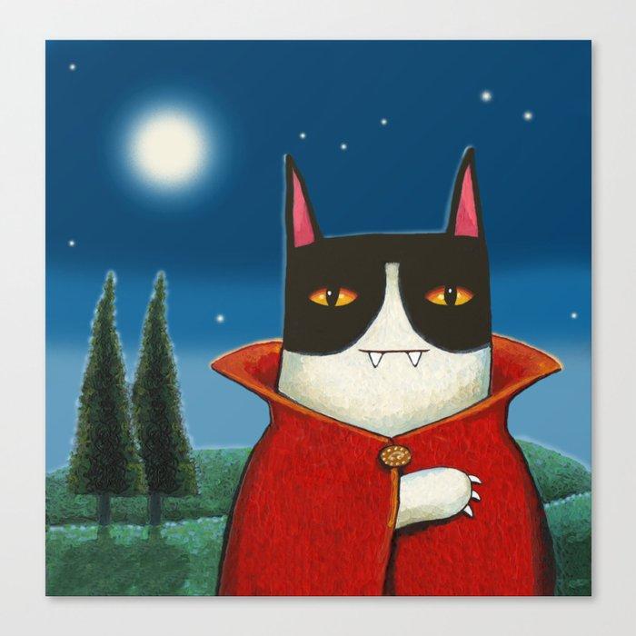 vampire cat Canvas Print