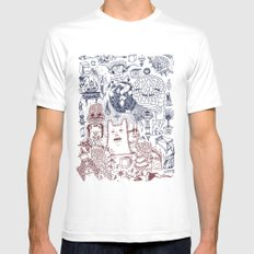 The Storm Brings a New Sight to Sea White Mens Fitted Tee MEDIUM