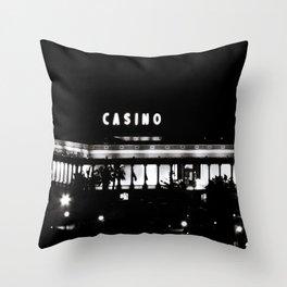 Black & White-Casino Throw Pillow