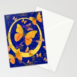 VINTAGE  YELLOW BUTTERFLIES SHABBY CHIC ART Stationery Cards