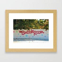 The Bubble Sign Framed Art Print
