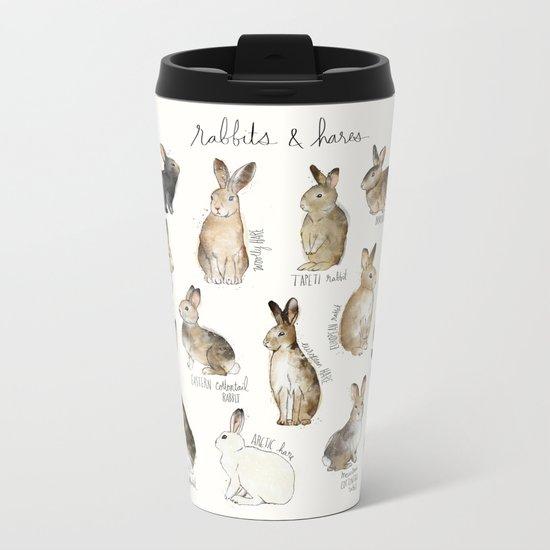 Rabbits & Hares Metal Travel Mug