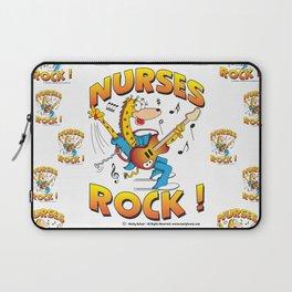 Nurses Rock Pattern Laptop Sleeve