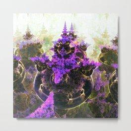 Purple Haze - Fractal Art Metal Print