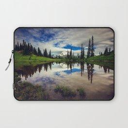Mountain Reflections Mt Rainier Washington Laptop Sleeve