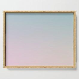 BURNING SKY - Minimal Plain Soft Mood Color Blend Prints Serving Tray
