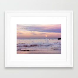 Reaching for the moon Framed Art Print