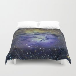 Pansy in Space Duvet Cover