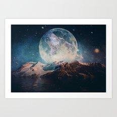 Lake Moon Art Print