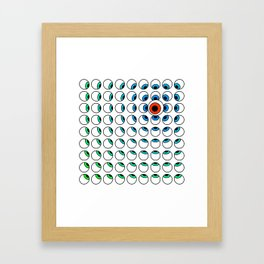 Eyes Follow Framed Art Print