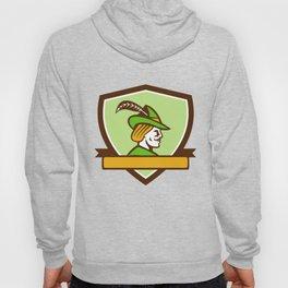 Robin Hood Side Ribbon Crest Retro Hoody