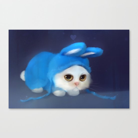Team Bunny Canvas Print