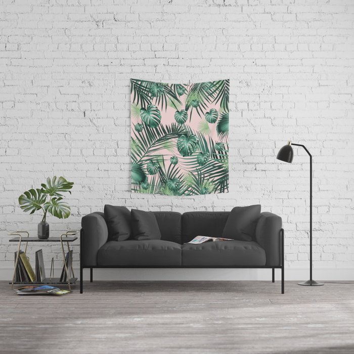 Tropical Jungle Leaves Garden #2 #tropical #decor #art #society6 Wall Tapestry