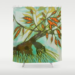 withered tree (original sold) Shower Curtain