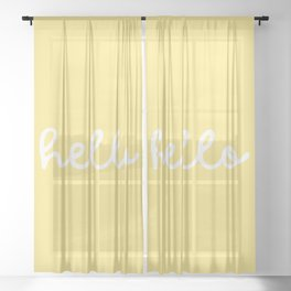 HELLO YELLOW Sheer Curtain