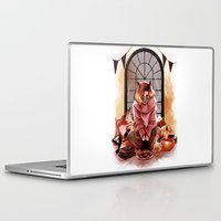 foxes Laptop & iPad Skins featuring FOXES by Lorena Carvalho