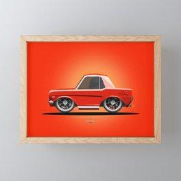 Red Mustang Framed Mini Art Print