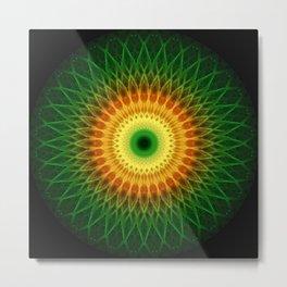 Dragon Eye Mandala Metal Print