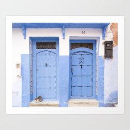 Moroccan Doors No. 16, Chefchaouen Art Print