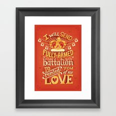 Battalion Framed Art Print