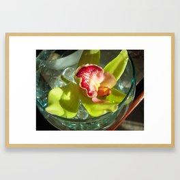 ROOM SERVICE ORCHID Framed Art Print