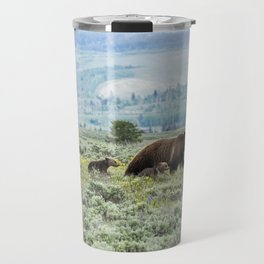 Heading South, No. 2 - Grizzly 399 and Cubs Travel Mug