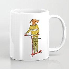 Dog on a scooter Coffee Mug