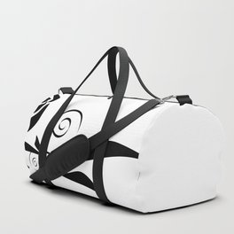 Abstract black and white roses corners Duffle Bag