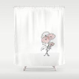 flower illustration Shower Curtain