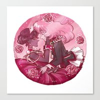 utena Canvas Prints featuring Utena x Anthy by Ravenno