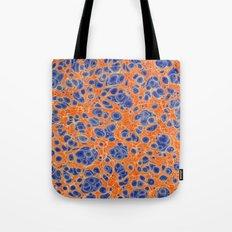 Marbled Blobs Blue and Orange Tote Bag