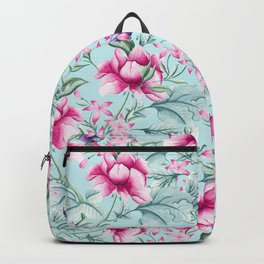 Floral Pattern Mint Backpack