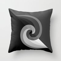 gray Throw Pillows featuring gray by Rishi Parikh