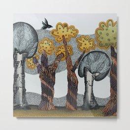 Autumnal Grove Metal Print