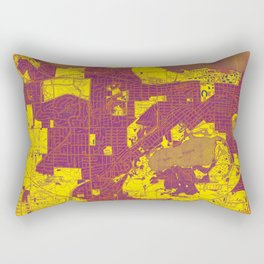 Madison West Wisconsin vintage map year 1959, rustic map, poster map Rectangular Pillow