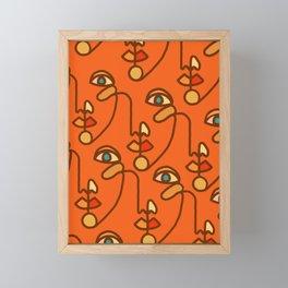 Multi Faced Sienna Framed Mini Art Print