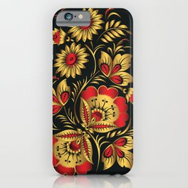 Golden russian folk iPhone Case