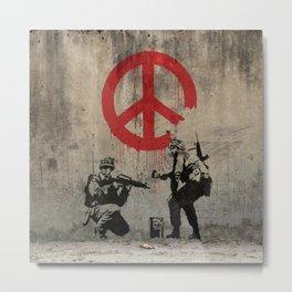 Bansky Soldiers Piece Metal Print