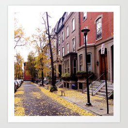 Fall In The City Art Print