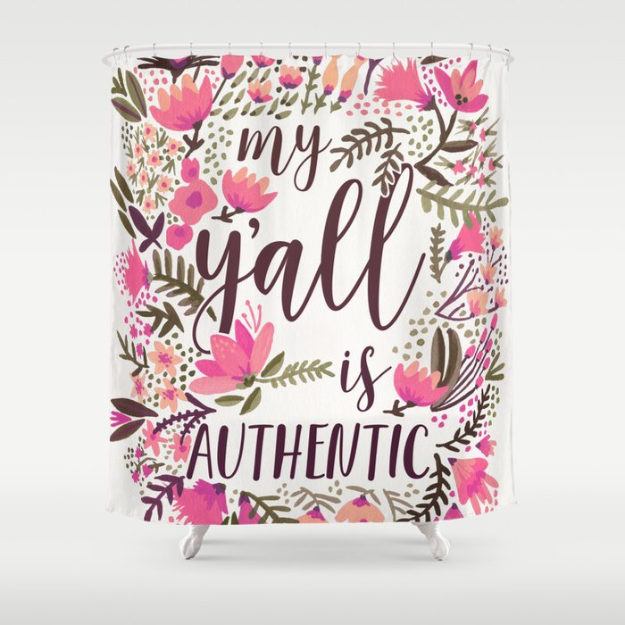 My Y'all is Authentic – Vintage Palette Shower Curtain