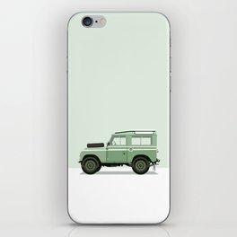 Car illustration - land rover defender iPhone Skin