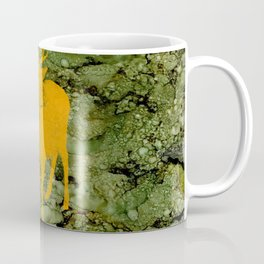 Deer on Green Camo Coffee Mug