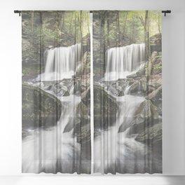 Appalachian Waterfall X - Ricketts Glen Adventure Sheer Curtain