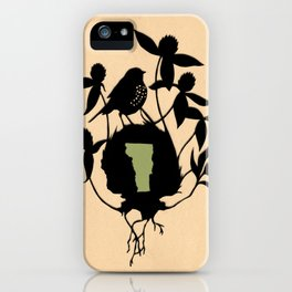 Vermont - State Papercut Print iPhone Case